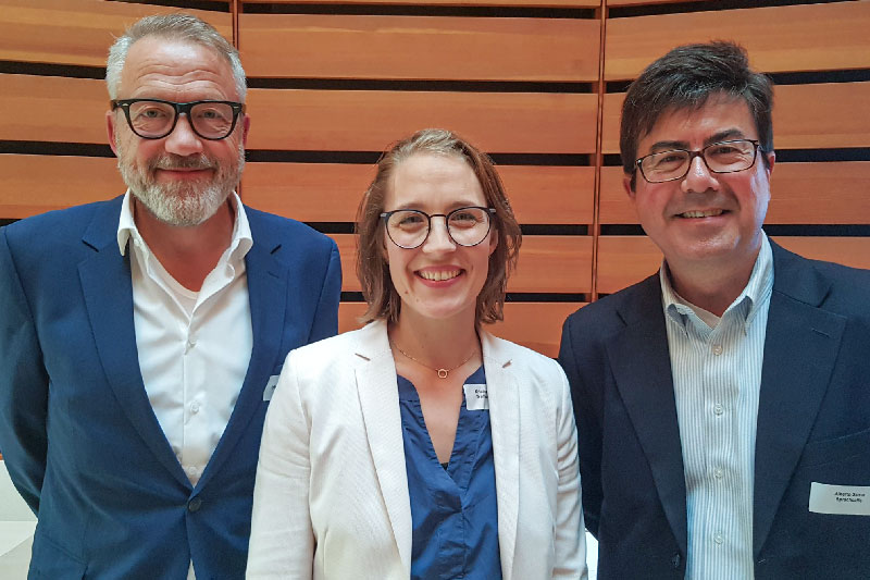 The newly elected board of directors of the FDSV: Peter Schuto, Kristina Schimmeyer, Alberto Sarno (from left to right)