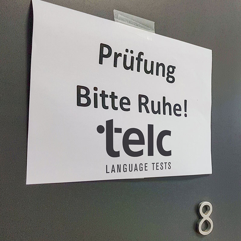 Illustrationsbild: telc exams at Sprachinstitut TREFFPUNKT, Bamberg, Germany