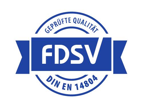 FDSV-Siegel Geprüfte Qualität DIN EN 14804